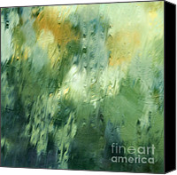 Polar Aurora Canvas Prints - Aurora Borealis Abstract Canvas Print by Zeana Romanovna