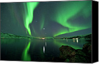 Venus Canvas Prints - Aurora Borealis Canvas Print by Bernt Olsen