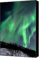 Aurora Borealis Canvas Prints - Aurora Borealis Corona Canvas Print by John Hemmingsen