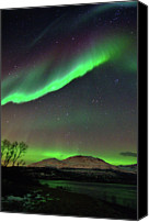 Astronomy Canvas Prints - Aurora Borealis Canvas Print by John Hemmingsen