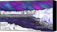 Sky Canvas Prints - Aurora Borealis Canvas Print by Methune Hively