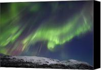 Polar Aurora Canvas Prints - Aurora Borealis Over Blafjellet Canvas Print by Arild Heitmann