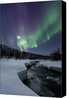 Polar Aurora Canvas Prints - Aurora Borealis Over The Blafjellelva Canvas Print by Arild Heitmann