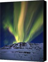 Polar Aurora Canvas Prints - Aurora Borealis Over Toviktinden Canvas Print by Arild Heitmann