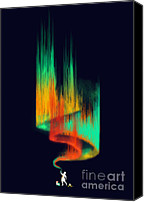 Aurora Borealis Canvas Prints - Aurora Borealis painter Canvas Print by Budi Satria Kwan