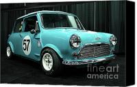 British Cars Canvas Prints - Austin Cooper Canvas Print by Wingsdomain Art and Photography
