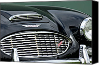 Grill Canvas Prints - Austin-Healey 3000 Grille Emblem Canvas Print by Jill Reger