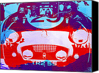 Racing Car Canvas Prints - Austin Healey bugeye Canvas Print by Irina  March