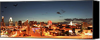 Andrew Digital Art Canvas Prints - Austin Night Canvas Print by Andrew Nourse
