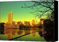 Austin Mixed Media Canvas Prints - Austin skyline  Canvas Print by Diana Moya