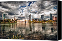 Austin Skyline Canvas Prints - Austin Skyline on Lady Bird Lake Canvas Print by John Maffei