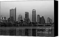 Cities Pyrography Canvas Prints - Austin Texas Canvas Print by Joshua Kubala