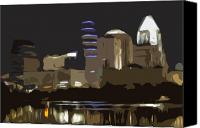 Austin Skyline Canvas Prints - Austin Variation 1 Canvas Print by John Gusky