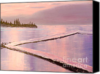 Original Special Promotions - Austinmer Pool at Sunset Canvas Print by Pamela  Meredith
