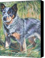 Blue Heeler Canvas Prints - Australian Cattle Dog 1 Canvas Print by Lee Ann Shepard