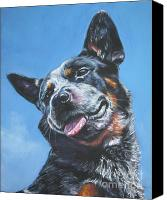 Blue Heeler Canvas Prints - Australian Cattle Dog 2 Canvas Print by Lee Ann Shepard