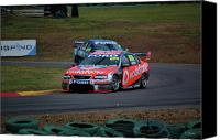 Australian Ford Canvas Prints - Australian Racing Car Driver Craig Lowndes Canvas Print by Cheryl Hall