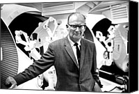 Kubrick Canvas Prints - Author Arthur C. Clarke Visits The Set Canvas Print by Everett