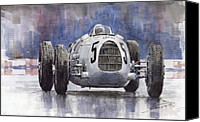Auto Canvas Prints - Auto-Union Type C 1936 Canvas Print by Yuriy  Shevchuk