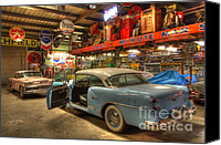 Classic Gas Pumps Canvas Prints - Automobile Heaven Canvas Print by Bob Christopher