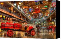 Classic Automobiles Canvas Prints - Automobile Paradise Canvas Print by Bob Christopher