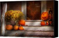 Halloween Scene Canvas Prints - Autumn - Halloween - Were all happy to see you Canvas Print by Mike Savad