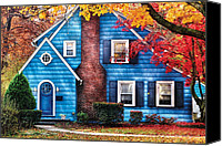 Autumn Scenes Canvas Prints - Autumn - House - Little Dream House  Canvas Print by Mike Savad