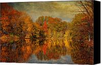 Halloween Scene Canvas Prints - Autumn - Landscape - Tamaques Park - Autumn in Westfield NJ  Canvas Print by Mike Savad