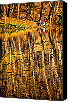 Jogging Canvas Prints - Autumn - 2 Canvas Print by Okan YILMAZ
