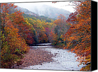 Trout Digital Art Canvas Prints - Autumn along Williams River Canvas Print by Thomas R Fletcher