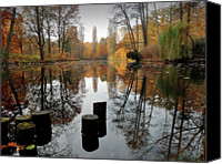 Berlin Canvas Prints - Autumn At Lake Canvas Print by Bernd Schunack