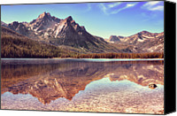 Mountain Scene Canvas Prints - Autumn At Stanley Lake, Idaho Canvas Print by Anna Gorin Design & Photography