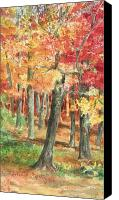 Fall Leaves Canvas Prints - Autumn Canvas Print by Barbel Amos