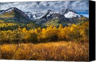 Craggy Canvas Prints - Autumn Colors on Mount Timpanogos Canvas Print by Utah Images