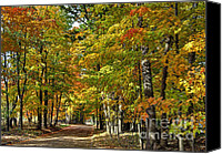 Metamora Canvas Prints - Autumn Colors Canvas Print by Rodney Campbell