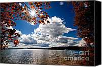 Decorative Art Canvas Prints - Autumn  Confidential  Canvas Print by Bob Orsillo