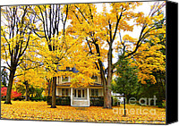 Tall Trees Canvas Prints - Autumn Day Canvas Print by Julie Palencia