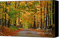 Metamora Canvas Prints - Autumn Gold Canvas Print by Rodney Campbell