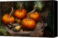 Halloween Scene Canvas Prints - Autumn - Gourd - Pumpkins and some other things  Canvas Print by Mike Savad