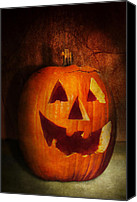 Halloween Scene Canvas Prints - Autumn - Halloween - Jack-o-Lantern  Canvas Print by Mike Savad