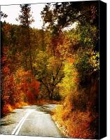 Rock Formation Canvas Prints - Autumn Highway Canvas Print by Leah Moore