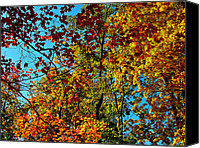 Indiana Autumn Digital Art Canvas Prints - Autumn in Indiana Canvas Print by Ruth Hager