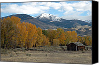 Old Wood Building Canvas Prints - Autumn in Montanas Madison Valley Canvas Print by Bruce Gourley