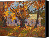 The White House Painting Canvas Prints - Autumn In New York Canvas Print by Len Stomski