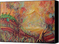Moria Canvas Prints - Autumn in the Shire Bag End Canvas Print by Joe  Gilronan