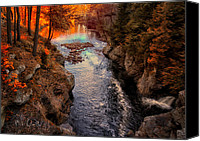 Waterfall Canvas Prints - Autumn In West Paris Canvas Print by Bob Orsillo