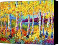 Birch Canvas Prints - Autumn Jewels Canvas Print by Marion Rose