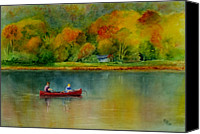 Son Canvas Prints - Autumn Canvas Print by Karen Fleschler