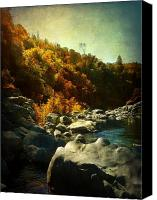 Living Room Canvas Prints - Autumn Lights Canvas Print by Leah Moore
