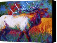 Elk Canvas Prints - Autumn Canvas Print by Marion Rose